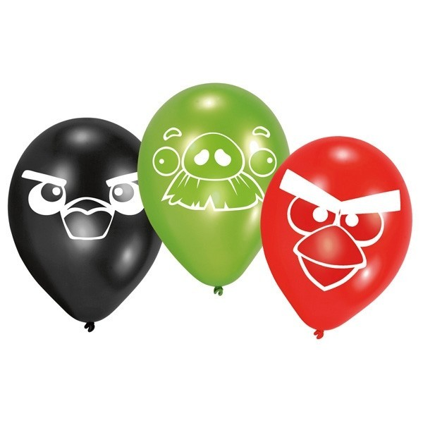 Set 6 baloane latex angry birds