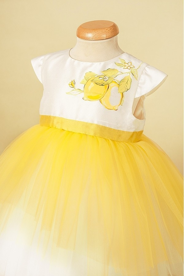 Lemon Dress - Rochita pictata cu lamai