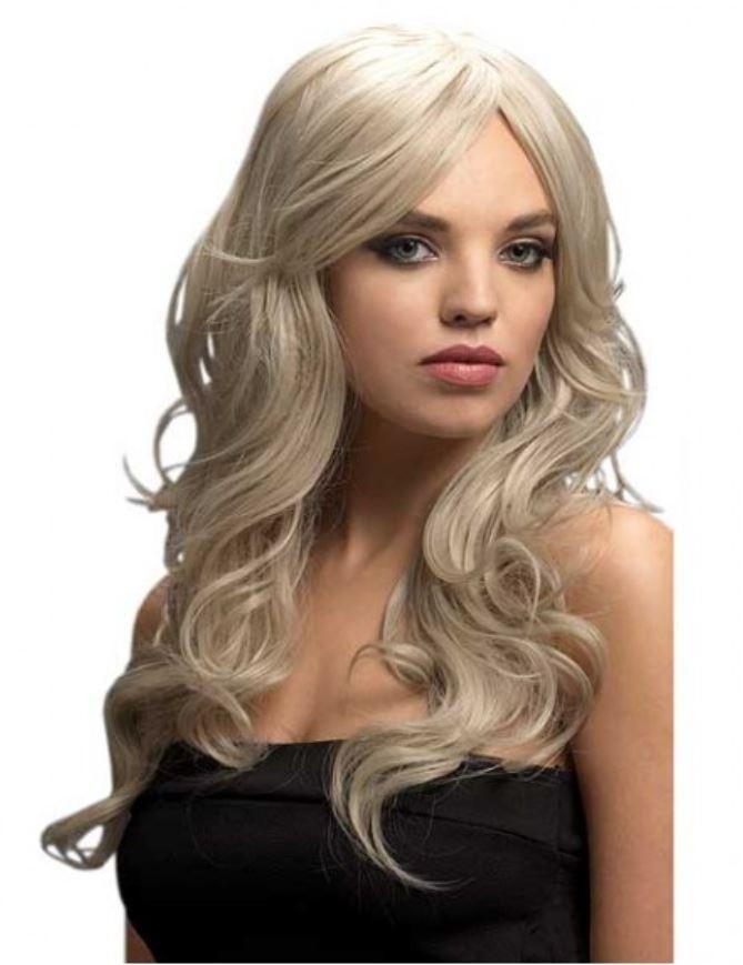 Peruca Blond Argintiu De Lux Nicole