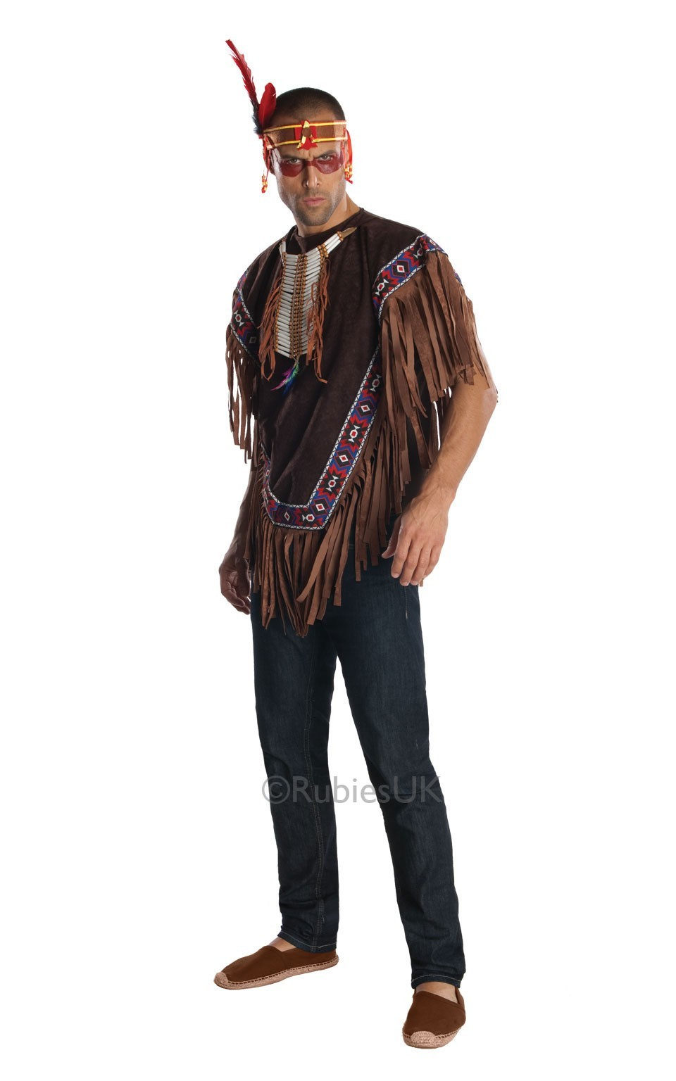 Poncho indian nativ american Apache cu bentita
