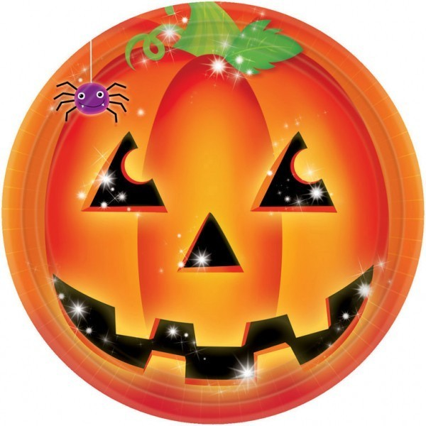 set-8-farfurii-dovleac-halloween-party-23-cm