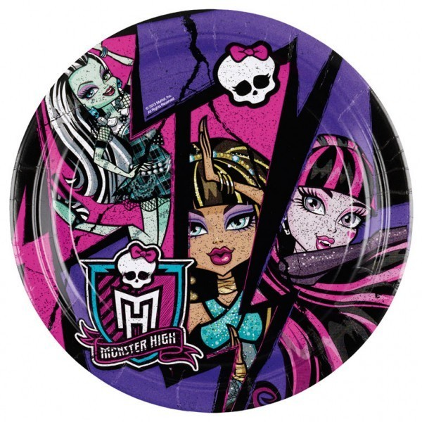 set-8-farfurii-monster-high-2-party