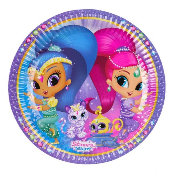 set-8-farfurii-shimmer-shine-party