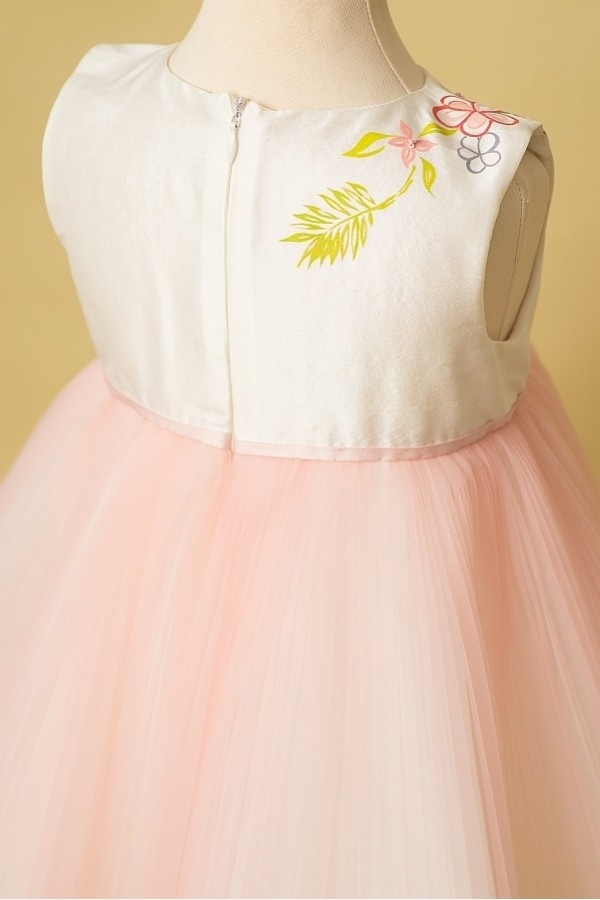 So Sweet Dress - Rochie tutu pictata manual, cu tema florala