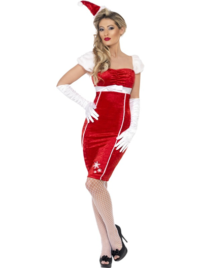 Costum craciunita adult rochie Pin Up