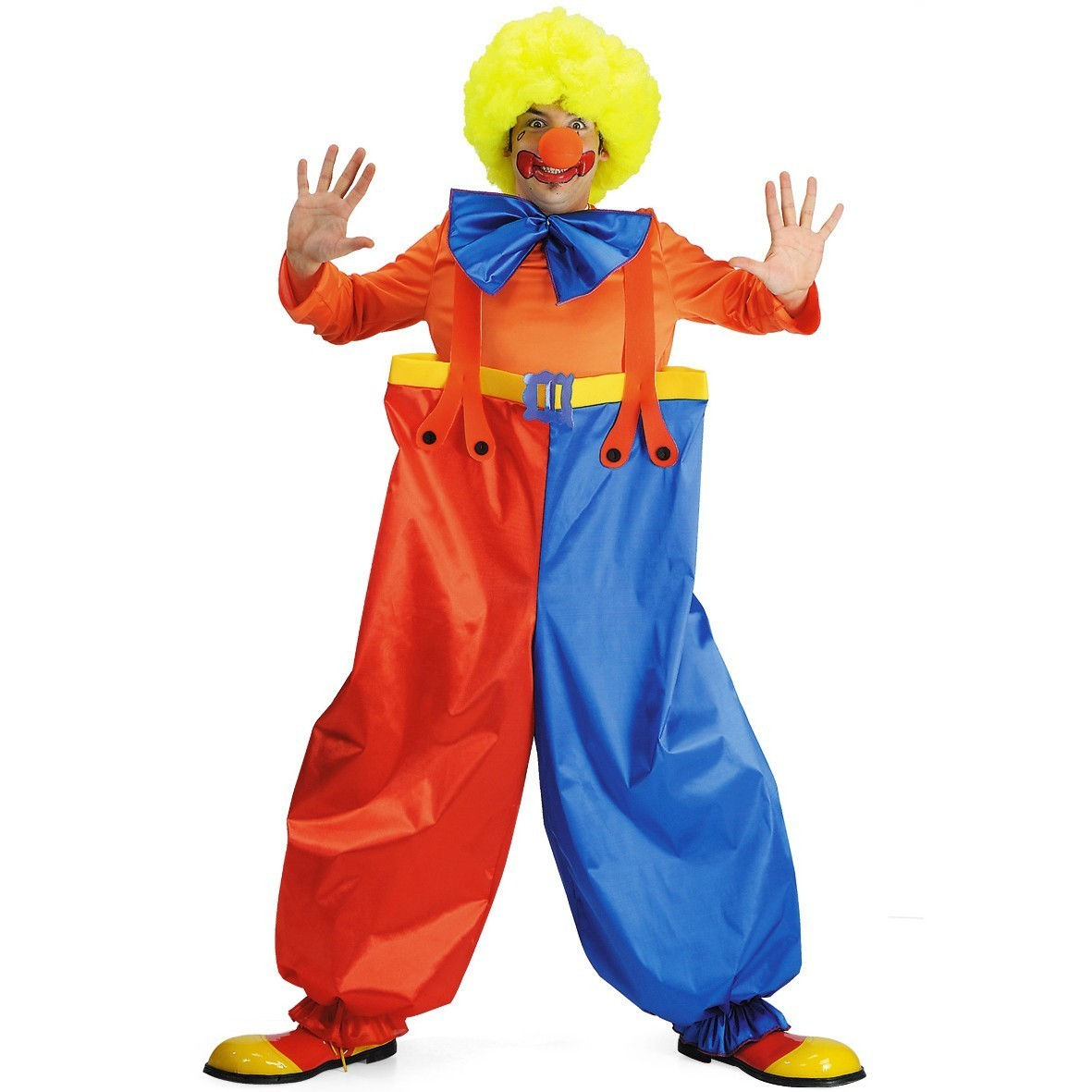 Costum clown adulti cu peruca si nas