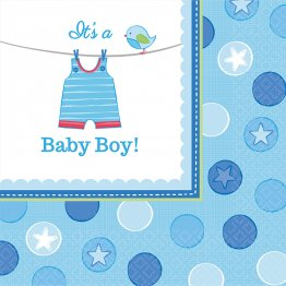 Set 16 servetele party baby shower with love Boy 33 x 33 cm