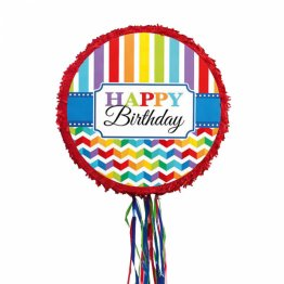 Pinata cu panglici party Happy Birthday Color 45 x 45 x 8.2 cm