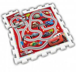 Puzzle Play Mat Cars, Stamp, 9 piese