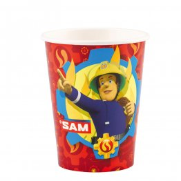 "Set 8 pahare party din carton Pompierul Sam ""Fireman Sam"" , 250 ml"