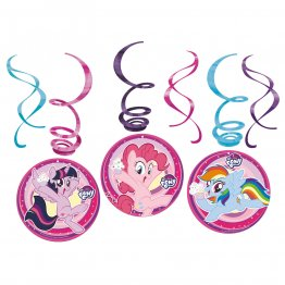 Set 6 spirale decor My Little Pony 61 cm