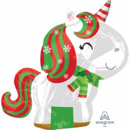 Balon folie Christmas Unicorn 53 cm