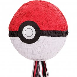 Pinata cu panglici party Pokemon Ball 27.3 x 27.9 x 27.3 cm