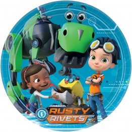 Set 8 farfurii party Rusty Rivets  23 cm