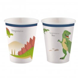 Set 8 pahare party Happy Dinosaur 250 ml
