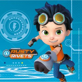 Set 16 servetele party Rusty Rivets 33 x 33 cm