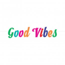 Banner litere colorate Good Vibes 167 x 15 cm