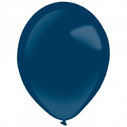 Set 50 baloane latex albastre Metallic Navy Flag Blue 35 cm
