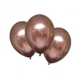 Baloane latex 28 cm Chrome Rose Copper set 6 buc