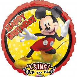 Balon folie jumbo muzical Mickey Mouse 71cm