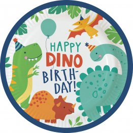 Set 8 farfurii party Dino-Mite 23 cm