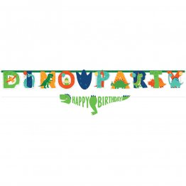 Banner litere Happy Birthday Dino party 2.3 m