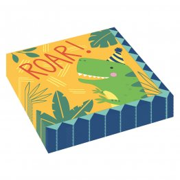 Set 16 servetele party Dino-Mite 33 x 33 cm