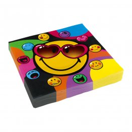 Set 20 servetele party Smiley Express Yourself 33 x 33 cm