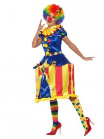 Costum carnaval clown dama Delux