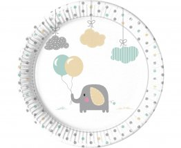 Set 8 farfurii party Elefant Baby 23 cm