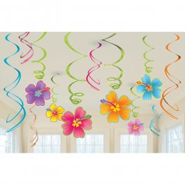 Set 12 spirale decor Hawaiian 61 cm