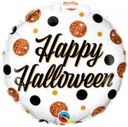 Balon Folie 45 cm Halloween Sparkly Dots