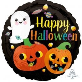 Balon folie 45 cm figurine Happy Halloween