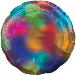 Balon folie rotunda Ombre Rainbow 40 cm