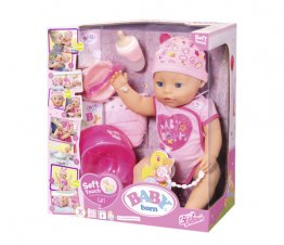 BABY born - Papusa interactiva cu corp moale