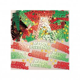 Confeti metalice Merry Christmas multicolore 14 g