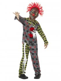 Costum halloween clown zombie copii