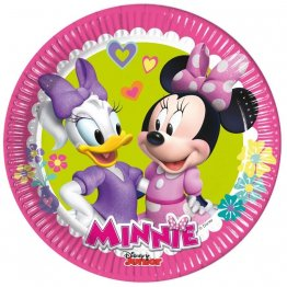 Set 8 farfurii carton 20 cm minnie happy helpers