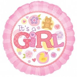 Balon botez Jucarii It's a Girl - 45 cm
