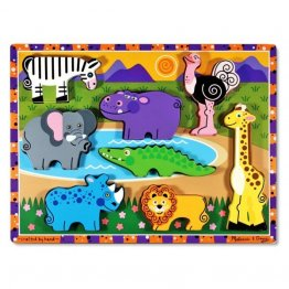 Puzzle lemn in relief Safari