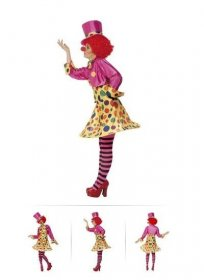 Costum clown dama cu palarie