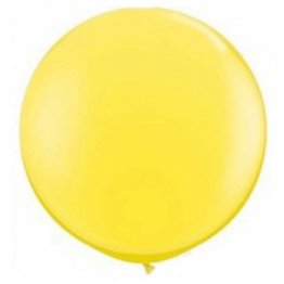 Balon jumbo latex galben - 90 cm