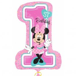 balon-folie-figurina-minnie-1st-birthday