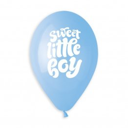 Set 50 baloane bleu 33 cm sweet little boy