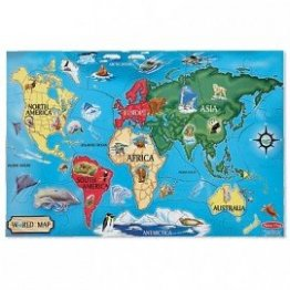 Puzzle de podea Harta Lumii/World Map