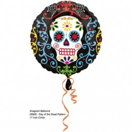 Balon folie 45 cm day of the dead halloween