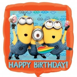 Balon folie Minions Happy Birthday