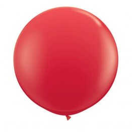 Balon latex jumbo rosu - 80 cm