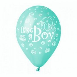 set-100-baloane-aqua-inscriptionate-its-a-boy