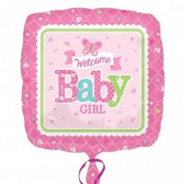 balon-folie-45-cm-welcome-baby-girl
